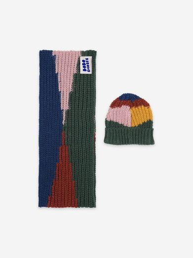 Bobo Choses -  Color Block neck warmer and hat (22085002 )