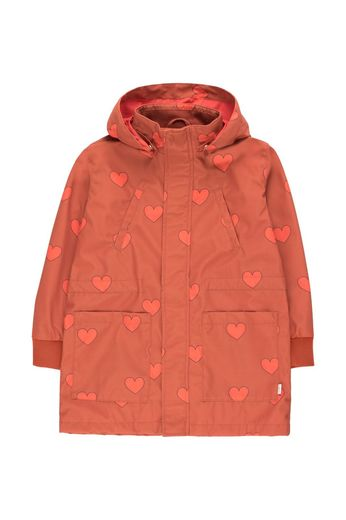 "Tinycottons - ""HEARTS"" JACKET sienna/red"