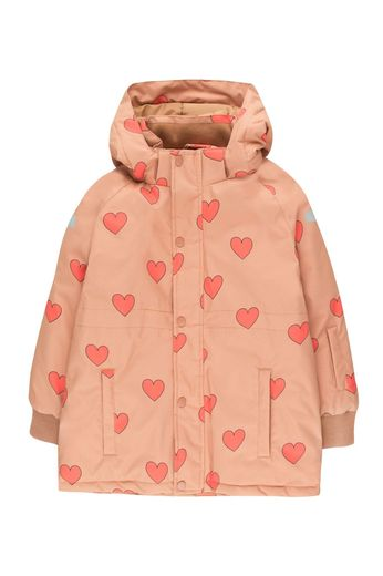 "Tinycottons - ""HEARTS"" SNOW JACKET tan/red"