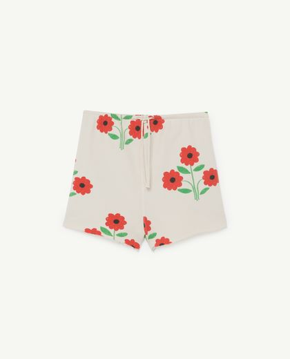 TAO - Hedgehog kids shorts, white flowers  001145 009_PD