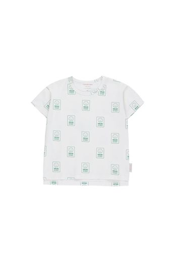 Tinycottons - 'HELLO' SS TEE  off-white/deep green