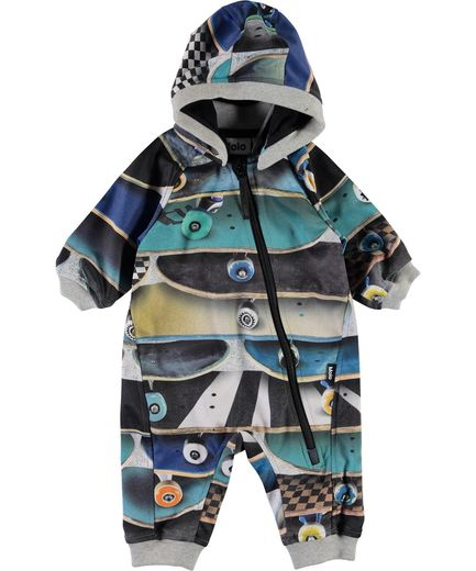 Molo Kids - Hill softshell suit, Stacked boards