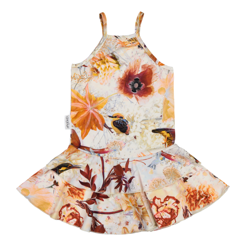 Gugguu - Print spaget dress, hummingbirds
