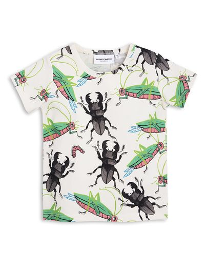mini rodini - Insects SS tee, off white