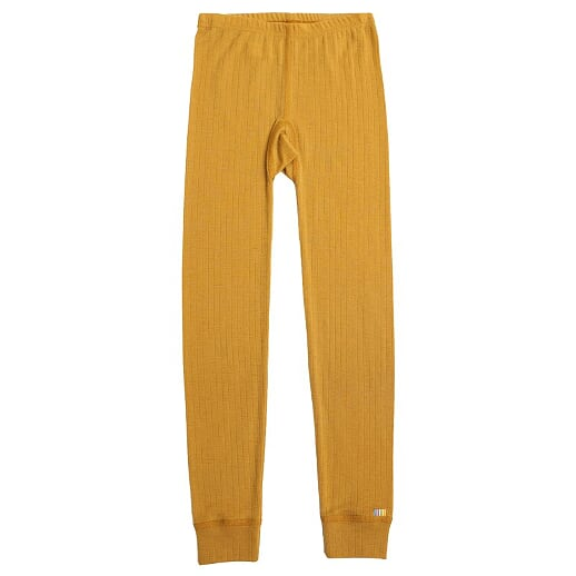 Joha - Merinowool leggings, curry yellow