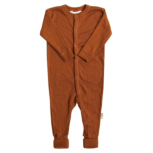 Joha - Wool jumpsuit, rust