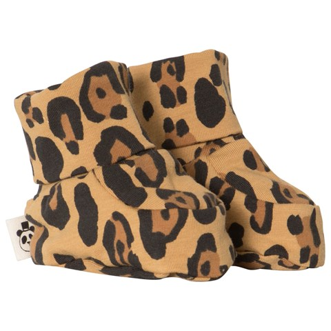 Mini Rodini - Basic leopard baby boot, beige