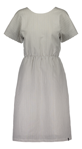 Kaiko - Linen wrap dress, falcon stripe