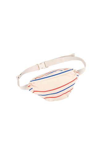 Tinycottons - 'RETRO LINES' FANNY BAG cream/red/ultramarine