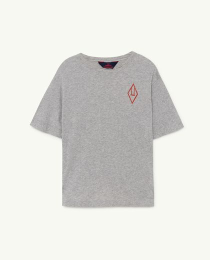 TAO -  Rooster oversize T-shirt, grey logo