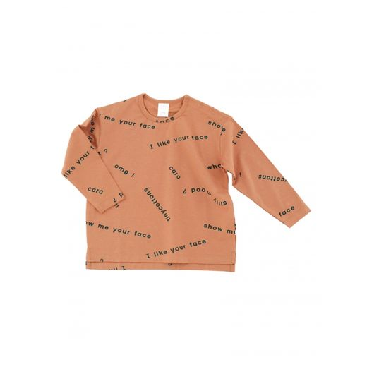 Tinycottons - Many words oversize tee, dark salmon