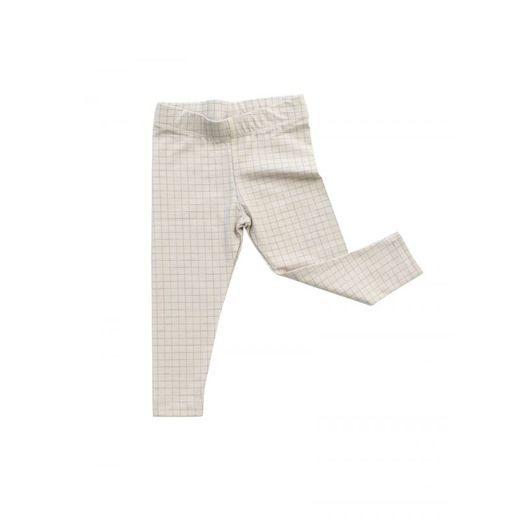 Tinycottons - Medium grid pants, beige