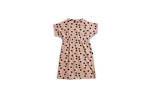 Monkind - Dotty Tennis Dress, Beige/Print (MK18-BD)