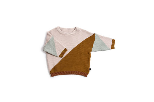 Monkind - Knitted Trig Pullover, Brown (MKN-01Y)