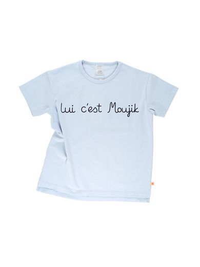 Tinycottons - Moujik text oversized gr tee, pale blue