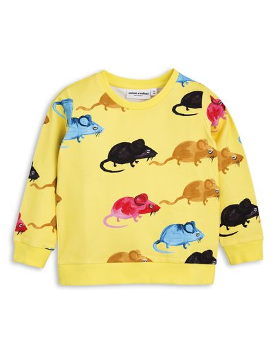 mini rodini - MR mouse sweatshirt, yellow