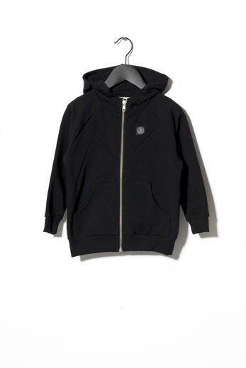 SOMETIME SOON - Pelle Zip hoodie, Black