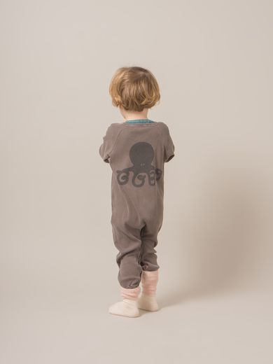Bobo Choses - Jumpsuit octopus, taupe