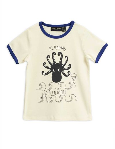 Mini Rodini - Octopus ss tee, blue