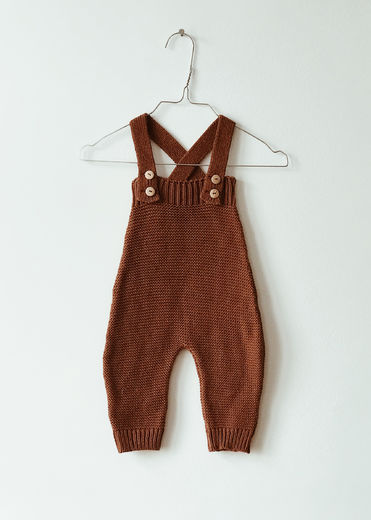 Monkind - Dust Knit Long Romper, Mi-red