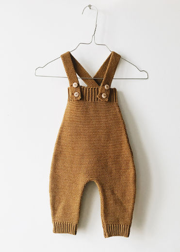 Monkind - Golden Knit Long Romper, Gold