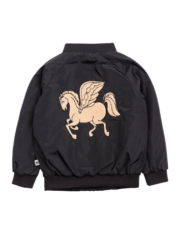 Mini Rodini - Pegasus Baseball Jacket, Black