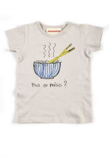 Nadadelazos - T-shirt Pho or Miso, rice white