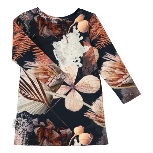 Gugguu - Print Laila dress, Fall pampas