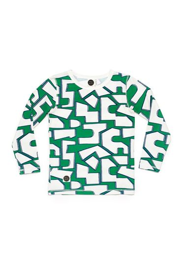 Mainio -  Puzzle LS shirt, green