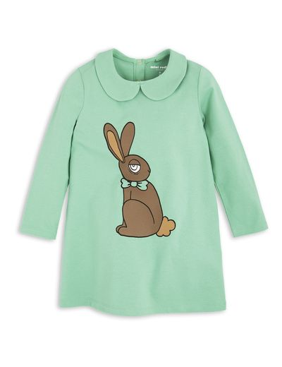 mini rodini - Rabbit collar dress, green