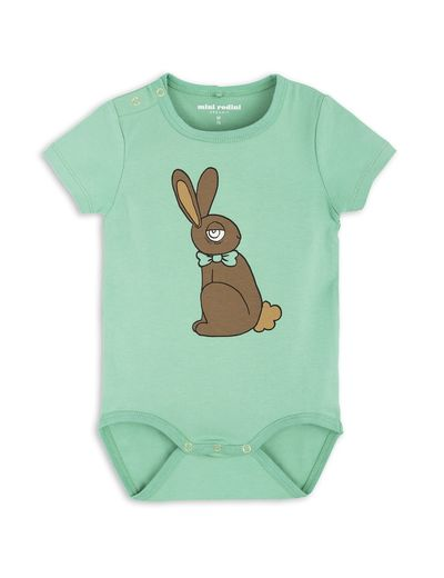 mini rodini - Rabbit SS body, green