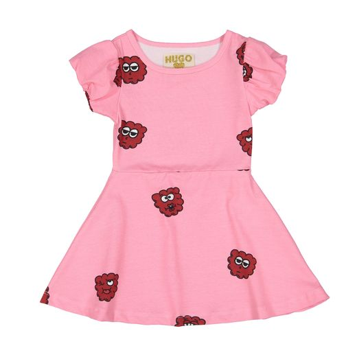 Hugo loves Tiki - Skater Dress, Pink Raspberry