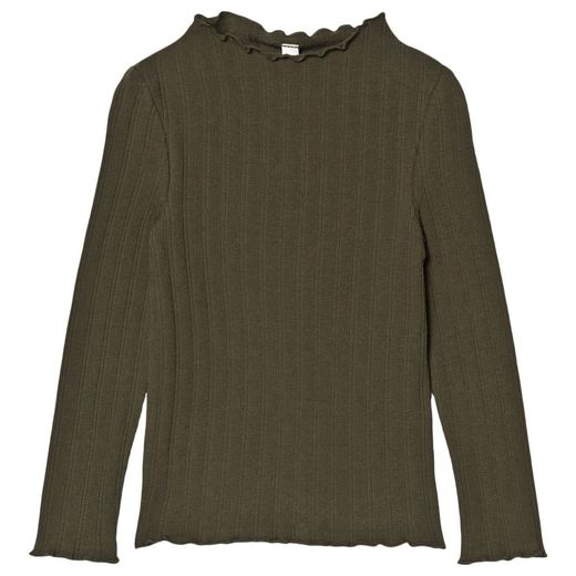 Rylee + Cru - Ribbed long sleeve top, forest