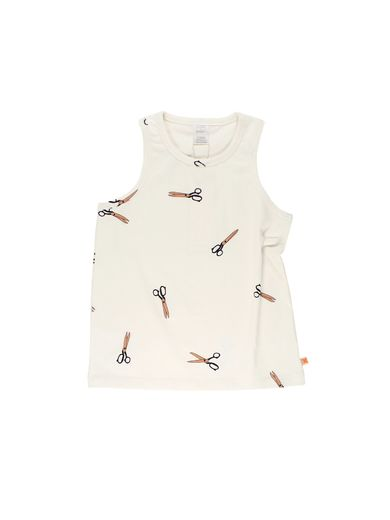Tinycottons - Scissors tank top, off white
