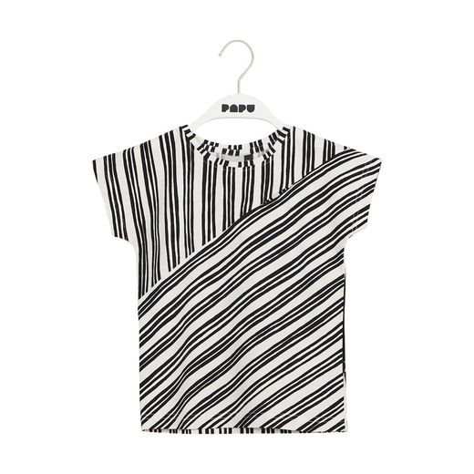 Papu - SCULPTURE T-TOP, white/black