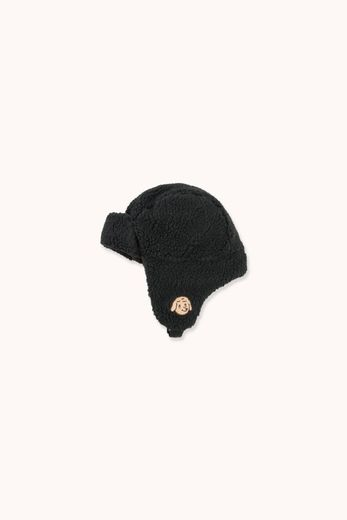 Tinycottons - Tiny dog sherpa cap, black