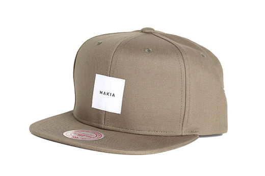 Makia - Square Snapback, Green