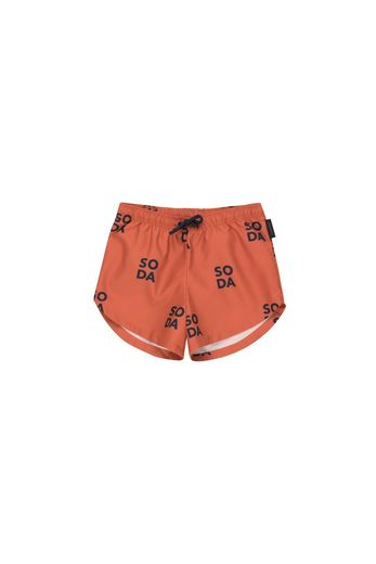 Tinycottons - 'SODA' TRUNKS  sienna/navy