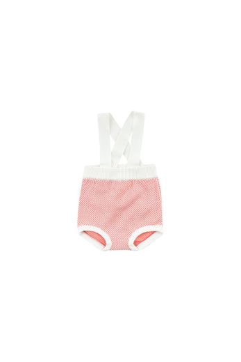 Tinycottons - STICKS' BABY BRACES BLOOMER  off-white/red