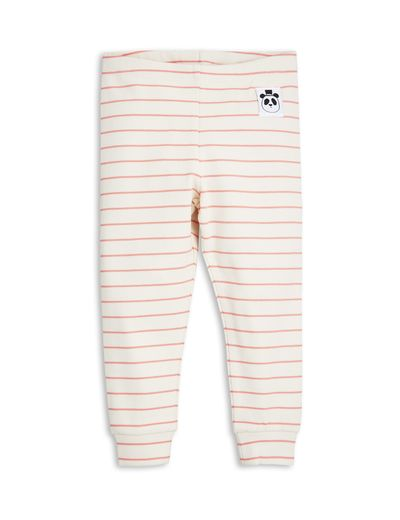 mini rodini - Stripe rib leggings, pink