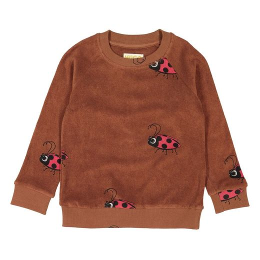 Hugo loves Tiki - Terry Sweatshirt, Brown Ladybug