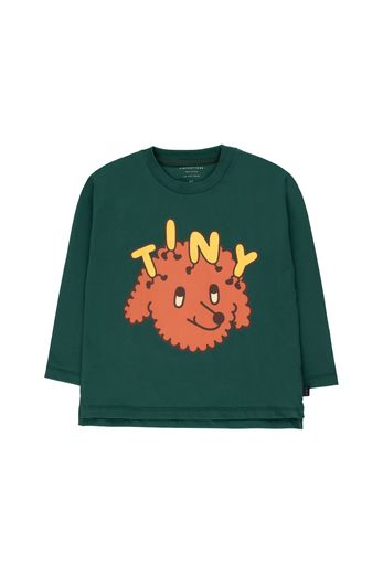 "Tinycottons - ""TINY DOG"" TEE dark green/sienna"
