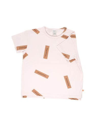 Tinycottons - Tiny logo oversized tee, pale pink/dark peach