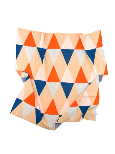 Tinycottons - Triangles blanket knit, multicolor