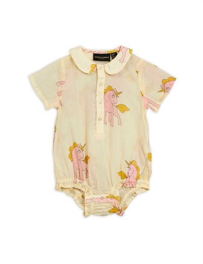 Mini Rodini - Unicorns woven body, yellow
