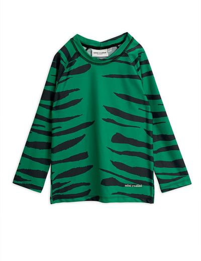 Mini Rodini - Tiger UV top, green