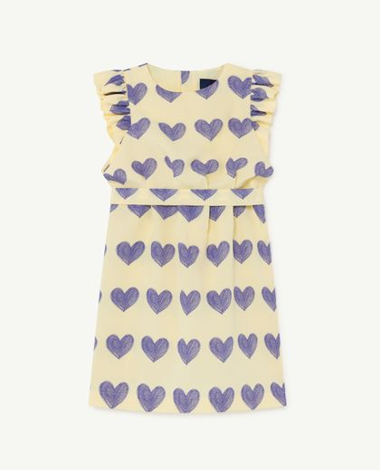 TAO - Weasel kids dress, yellow hearts 001198 099_OV