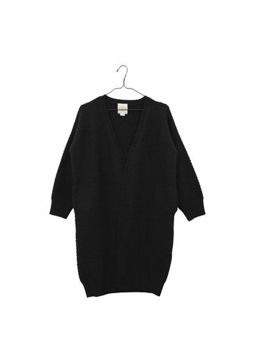 Aarrekid - Long wool jacket, black