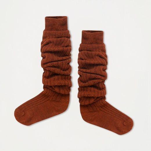 Repose AMS - Woolly high socks, hazel brown