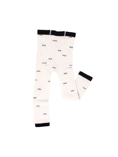 Tinycottons - Years leggings knit, off white/navy